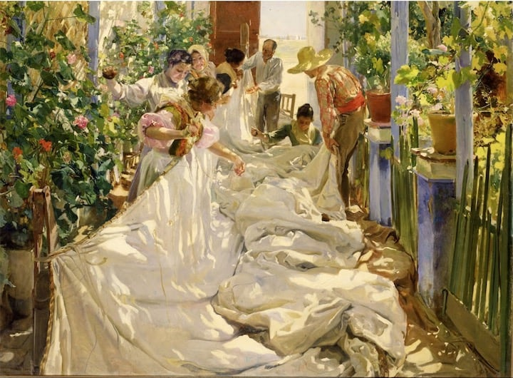 Sewing the Sail – Joaquín Sorolla, 1896 – 1896